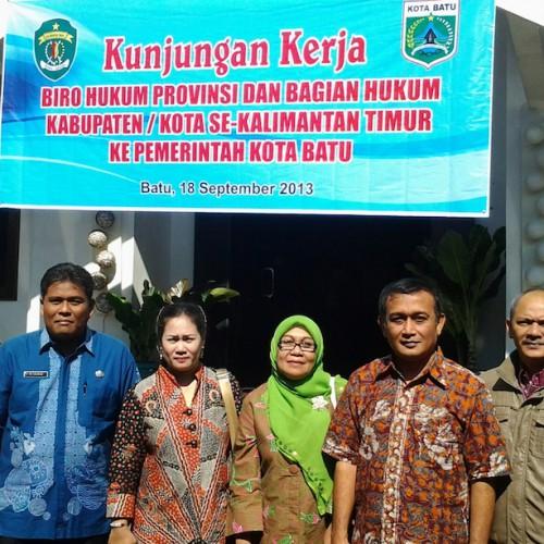 Kunjungan Kerja Bagian Hukum Ke Pemerintah Kota Batu Provinsi Jawa Timur