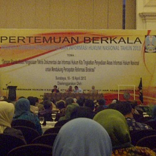 Pertemuan Berkala Anggota Jaringan Dokumentasi dan Informasi Hukum Nasional Tahun 2013