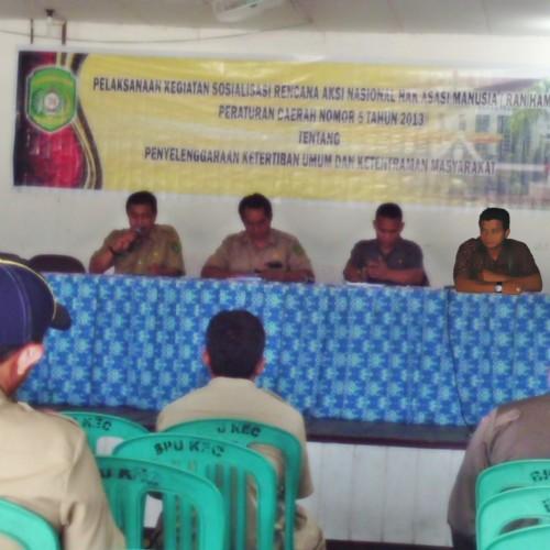 Sosialisasi Perda No 5 Tauhn 2013 di Kecamatan Muara Muntai dan Kembang Janggut