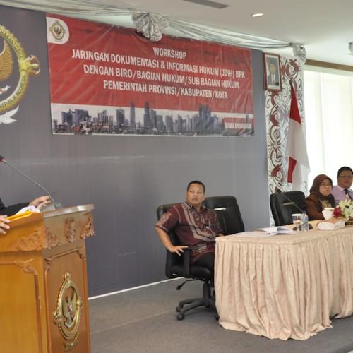 Workshop JDIH Sebagai Ajang Kerjasama dan Koordinasi Antar Anggota JDIH Nasional