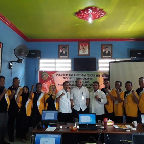 Bagian Hukum Sekretariat Daerah Kabupaten Kutai Kartanegara Mengadakan Bimbingan Teknis Tata Cara Penyusunan Peraturan Desa di Desa Jembayan