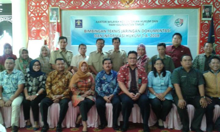 Bimbingan Teknis JDIH oleh Kemenkumham Provinsi Kaltim Tahun 2018