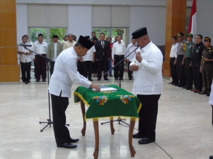 Pelantikan dan Pengambilan Sumpah Sekretaris Daerah Definitif Kabupaten Kutai Kartanegara