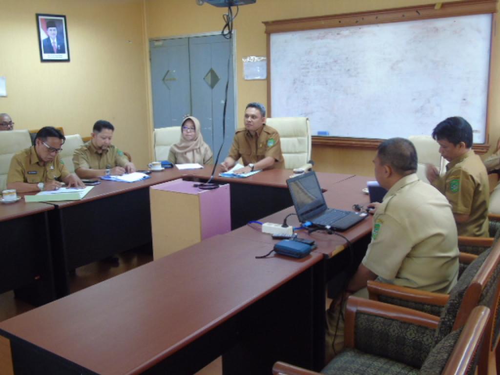 Rakor terkait Permohonan Perubahan Peraturan Bupati No. 44 Tahun 2013 Tentang Petunjuk Penyelesaian Kerugian Daerah